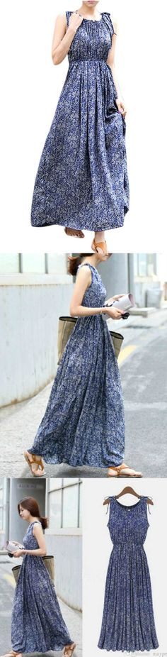 Summer Floral Printed Maxi Dress! Click The Image To Buy It Now or Tag SomeoneYou Want To Buy This For.  #FloralMaxiDress
