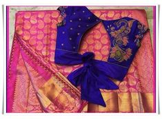 If you are looking for new & latest saree blouse design ideas for your party, fancy, silk or any other sarees, you've come to the right place. Blouse Back Neck Designs, Silk Saree Blouse Designs, Stylish Blouse Design, Designer Blouse Patterns, Fancy Blouse Designs, Bridal Blouse Designs, Blouse Desings, Work Blouse, Blue Blouse