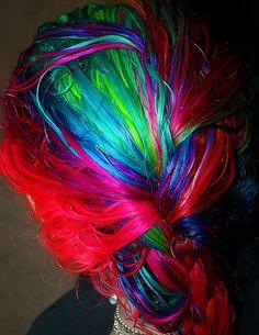 blue hair, braid, dyed hair, green hair, hair, indigo hair - inspiring ...385 x 499 | 194KB | favim.com