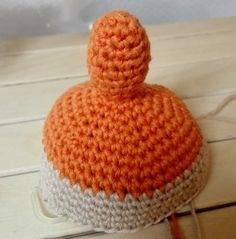 Little My from Moomin – free pattern – Katrine Klarer Little My Moomin, Cool Patterns, Crochet Patterns, Free Crochet, Crochet Hats, Big Knit Blanket, Jumbo Yarn, Big Knits, Thick Yarn