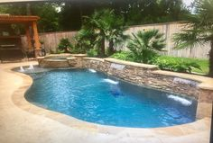 33 The Best Natural Small Pools Design Ideas You Will Love - If you want a backyard pool, but don't want to spend tens of thousands of dollars installing it, then a natural swimming pool is the way to go. Amazing Swimming Pools, Swimming Pool Landscaping, Swimming Pools Backyard, Swimming Pool Designs, Landscaping Ideas, Inground Pool Designs, Backyard Pool Designs, Small Backyard Pools, Small Pools