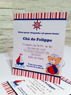 Lindo convite de chá de bebê ! Pode ser adaptado para aniversário ,impresso em papel fotográfico 180g.Acompanha envelope e tag personalizada. Consulte-nos para mais detalhes. R$ 3,60