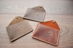 Minimalist wallet leather slim wallet Cardholder by Rachiba