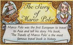 Marco Polo facts for kids Matrix Multiplication, Early Explorers, Facts For Kids, Marco Polo, His Travel, American History, Things To Think About, Books, Teaching History