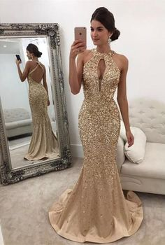 Item:Crystal Beaded Mermaid Prom Dresses Halter Top 2017 Color:Silver /Custom Made Material:Satin,Crystal,Beads Tailor Time:15 to 20 days Shipment:3 to 7 days t