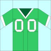 365 Paper Pieced Quilt Blocks: Block #40 - Football Jersey