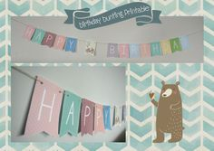 Happy Birthday Bunting Banner - Free Printable <3