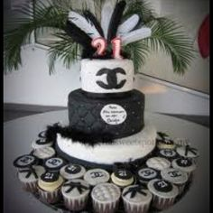 Chanel birthday cake n cupcakes