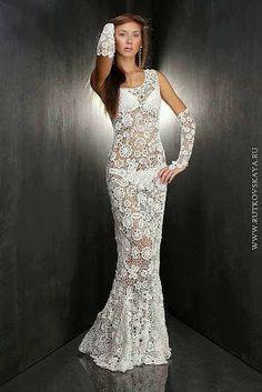 Sexy Crochet Wedding Dress Crochet wedding dresses