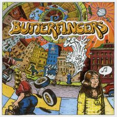 Butterfingers album cover from 1970 with artwork owing a very heavy debt to Crumb.