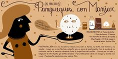 pati aguilera - Buscar con Google Chilean Recipes, Chilean Food, Vintage Drawing, Food Illustrations, Food Art, Sweet Recipes, Cocktails, Yummy Food, Sweets