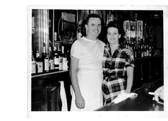 My Grandparents in the 1950's working in their restaurant/tavern.