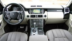 sitting in the drivers seat, range rover supercharged