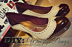 That Black Chic: DIY: Wingtip Pumps