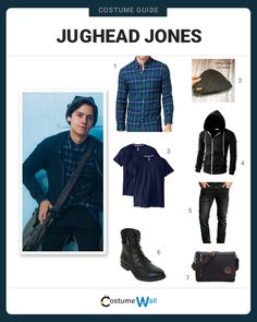 The best costume guide for dressing up like Jughead Jones, the high school outsider who is the narrator starring on The CW show, Riverdale.
