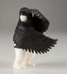 Raven Dancer by Walton Irrigoo, Yupik (Siberian Yup'ik) artist (Inuit Art)