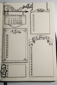 Source Gaëlle Auffret via le groupe FB Bullet Journal - Version française Bullet Journal Banner, Bullet Journal Notebook, Bullet Journal 2019, Bullet Journal Ideas Pages, Bullet Journal Layout, My Journal, Bullet Journal Inspiration, Bullet Journals, Bullet Journal Sections