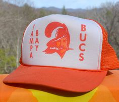 80s vintage BUCS baseball cap tampa bay buccaneers by skippyhaha Nfl  Football be4f28c7ecf0