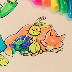 Long days doesn't mean hard days ! I know I'm not here a lot. But I proudly work with LearnEnjoy mostly and Big honor here. Drawing for kids is a new path for me !  #cute #animals #drawing Support my work on #Patreon : http://ift.tt/1RqclZE