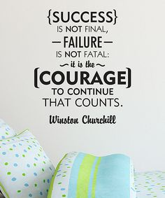 Look what I found on #zulily! 'Courage Counts' Wall Quotes™ Decal by Wallquotes.com by Belvedere Designs #zulilyfinds