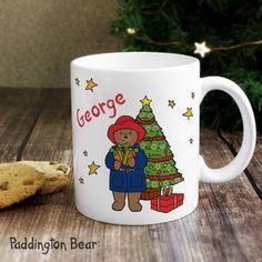 Personalised Paddington Bear Christmas Mug Cute Christmas Presents, Thoughtful Christmas Gifts, All Things Christmas, Personalized Christmas Mugs, Personalized Gift Cards, Paddington Bear, Secret Santa Gifts, Gifts For Mum, Novelty Gifts