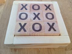 Scandi home decor tic tac toe naughts and crosses by Shackadale