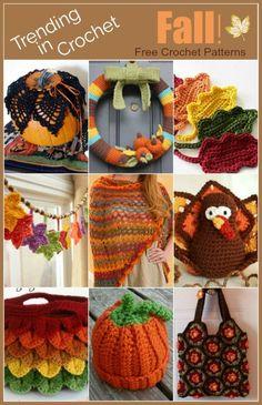 Trending In Crochet are Fall! Inspired Free Crochet Patterns on The Purple Poncho #crochet #homedecor #diy #thepurpleponcho