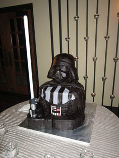 Darth Vader Cake - this is what ALex has requested for his birthday. Oh help.