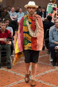 Style tip: Colors that lie closely on the color wheel (for example red and pink), go great together.  More from the Junya Watanabe SS 2016 menswear collection:   http://attireclub.org/2015/11/20/junya-watanabe-ss-2016-menswear-collection  #junyawatanabe #menswear #fashion