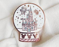 Magical Castle Snow Globe Enamel Pin, Lapel Pin, The Happiest Place, Magical Enamel Pin, by PlantandCo on Etsy Disney Pin Trading, Disney Trips, Walt Disney, Broches Disney, Photos Folles, Disney Pins Sets, Disneyland Pins, Lego Mecha, Disney Aesthetic