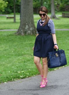 In a style rut? Adding a pair of unexpected shoes can take an outfit from ok to hell yeah! Via Good Girl Gone Glam. For body shape and style tips, go to Styletruist.com.