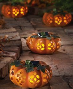 Lawn Ornaments Solar Powered Unique Lighted Decorative Garden Resin Pumpkin Fall #Pumpkin #ResinPumpkin #Resin #PumpkinFall #Fall #LawnOrnaments #SolarPowered #LightedPumpkin #Decorative #LawnDecor #Ornaments