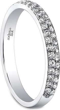 Jeff Cooper Double Row Diamond Wedding Band This Features Two Rows Of