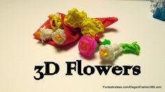Rainbow Loom 3D lily Flowers Bouquet Charm - How to - Mother's Day gift ...