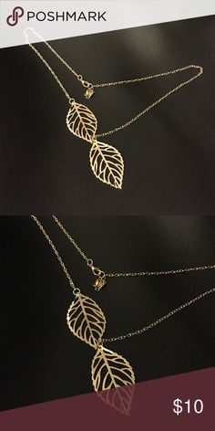 Gold leaf Necklace New. Lightweight. *not of above brand, used for exposure* Urban Outfitters Jewelry Necklaces