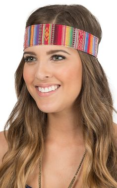 Blazin Roxx Multicolor Saddle Blanket Headband 3006297 | Cavender's