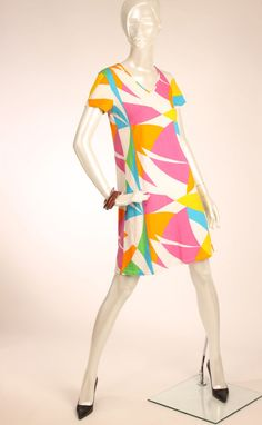MARIMEKKO Multicolor Abstract Print Cotton Tunic Mika Piirainen XS