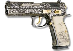 beretta revolver .22 engraved | Firearms as Art: A Small Gallery of CZ's Engraved Pistol Series