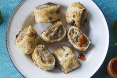 Pork, apple and sage sausage rolls