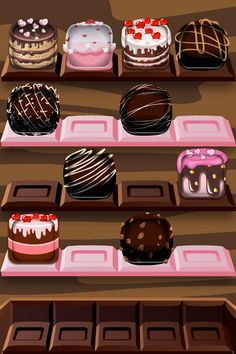 Sweets iPhone/ iPod Shelf Wallpaper