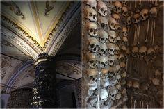 Capela dos Ossos - Guia de viagem e dicas de Turismo em Évora, na região do Alentejo - Portugal.
