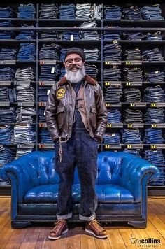"""Dave EdwardsMister ED - Custom Tailor/Designer.Rotterdam (NL).Picture taken by Tim Collins Photography during the """"The Stranded Sailor..."""