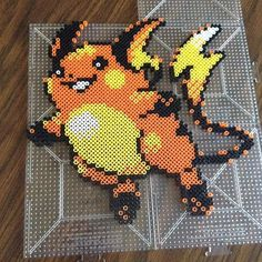 Raichu (026) Pokemon perler beads by _theperlerbeadmakers_ (