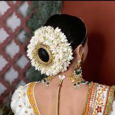 New Bridal Hairstyle, South Indian Wedding Hairstyles, Bridal Bun, Indian Hairstyles, Classy Hairstyles, Braided Bun Hairstyles, Bride Hairstyles, Fairytale Hair, Half Braid
