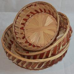 Amazon.com: BA110679B-3: Turbine Bowl Design Bamboo Bread or Storage Baskets in Chestnut: Home & Kitchen