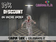 A great chance to buy attractive #Halloweencostume for adults that looks like a jumpsuit with black and white striped with 10% discount on online order. Adult Halloween, Halloween Costumes, That Look, Jumpsuit, Black And White, Celebrities, Stuff To Buy, Overalls, Black White