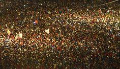 Acto Político por la desaparición física del Comandante en Jefe en la Plaza de la Revolución.