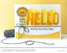 Handmade card from Lynn Put featuring Big Hello Die-namics #mftstamps