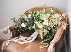 Neutral Garden Wedding Ideas via oncewed.com