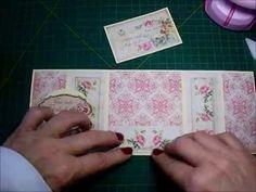 Cartão Vintage-Tri Fold Card